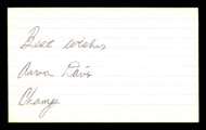 "Aaron Davis Autographed 3x5 Index Card ""Best Wishes"" SKU #186918"