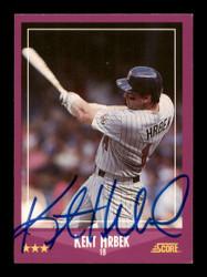 Kent Hrbek Autographed 1988 Score Card #43 Minnesota Twins SKU #188375