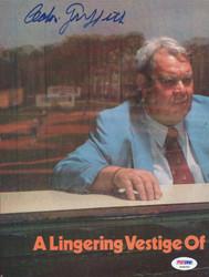 Calvin Griffith Autographed Magazine Page Photo Washington Senators PSA/DNA #S39059