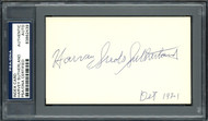 "Harvey ""Suds"" Sutherland Autographed 3x5 Index Card Detroit Tigers PSA/DNA #83862438"