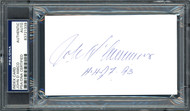 "John D'Amico Autographed 3x5 Index Card ""H.H.O.F. 93"" PSA/DNA #83721339"