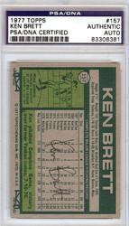 Ken Brett Autographed 1977 Topps Card #157 PSA/DNA #83306381