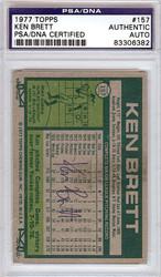 Ken Brett Autographed 1977 Topps Card #157 PSA/DNA #83306382