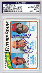 Alan Knicely & Pete Ladd Autographed 1980 Topps Card #678 Houston Astros PSA/DNA #83311889