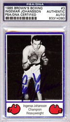 Ingemar Johansson Autographed 1985 Brown's Boxing Card PSA/DNA #83314280