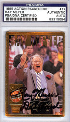 Ray Meyer Autographed 1995 Action Packed HOF Card #17 PSA/DNA #83315054