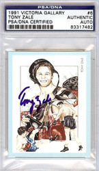 Tony Zale Autographed 1991 Victoria Gallery Card PSA/DNA #83317482