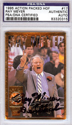Ray Meyer Autographed 1995 Action Packed HOF Card #17 PSA/DNA #83320315