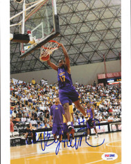 Andrew Bynum Autographed 8x10 Photo Los Angeles Lakers PSA/DNA #S40051