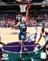 Christian Laettner Autographed 8x10 Photo Detroit Pistons PSA/DNA #S40694