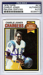 Charlie Joiner Autographed 1979 Topps Card #419 San Diego Chargers PSA/DNA #83364772