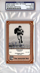 Pete Pihos Autographed 1975 Fleer Hall Of Fame Card #41 Philadelphia Eagles PSA/DNA #83348902