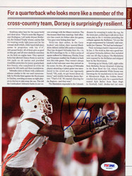 Andre Johnson Autographed Magazine Page Photo Miami Hurricanes PSA/DNA #S40861
