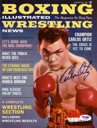 Carlos Ortiz Autographed Boxing Illustrated Magazine Cover PSA/DNA #S42986