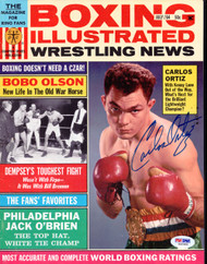 Carlos Ortiz Autographed Boxing Illustrated Magazine Cover PSA/DNA #S42988