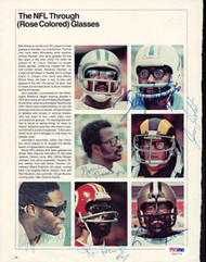 Billy Johnson, Norris Thomas, Jim Jodat, Ken Houston, Joe Lavender & Chuck Muncie Autographed Magazine Page Photo PSA/DNA #S43172