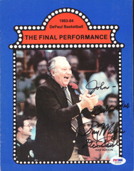 "Ray Meyer Autographed Magazine Page Photo DePaul Blue Demons ""To John"" PSA/DNA #S43829"