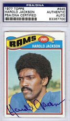 Harold Jackson Autographed 1977 Topps Card #445 Los Angeles Rams PSA/DNA #83367700