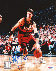 Christian Laettner Autographed 8x10 Photo Atlanta Hawks PSA/DNA #S46452