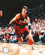 Christian Laettner Autographed 8x10 Photo Atlanta Hawks PSA/DNA #S46456