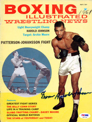 Harold Johnson Autographed Boxing Illustrated Magazine Cover PSA/DNA #S47134
