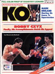 Bobby Czyz Autographed KO Boxing Magazine Cover PSA/DNA #S47408