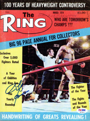 George Foreman Autographed The Ring Magazine Cover PSA/DNA #S47413