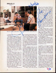 Alexis Arguello Autographed Magazine Page Photo PSA/DNA #S47441