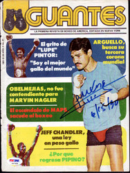 Alexis Arguello Autographed Magazine Cover PSA/DNA #S47458