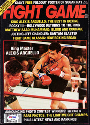 Alexis Arguello Autographed Fight Game Magazine Cover PSA/DNA #S47464