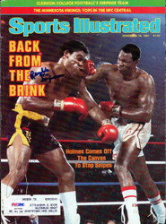 Larry Holmes & Renaldo Snipes Autographed Sports Illustrated Magazine Cover PSA/DNA #S47568