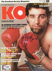 Gerry Cooney Autographed KO Boxing Magazine Cover PSA/DNA #S42134