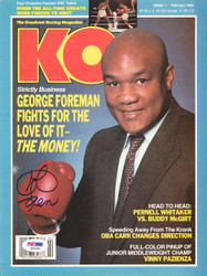 George Foreman Autographed KO Boxing Magazine Cover PSA/DNA #S42321