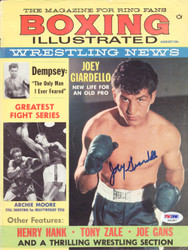 Joey Giardello Autographed Boxing Illustrated Magazine Cover PSA/DNA #S42387