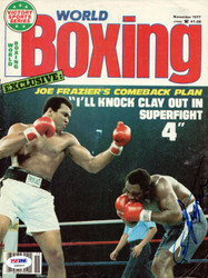 Joe Frazier Autographed Boxing World Magazine Cover PSA/DNA #S48463