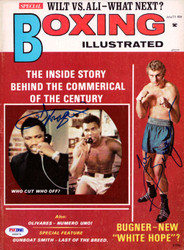Joe Frazier & Joe Bugner Autographed Boxing Illustrated Magazine Cover PSA/DNA #S48474