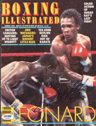 Sugar Ray Leonard Autographed Boxing Illustrated Magazine Cover PSA/DNA #S49242