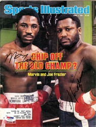 Joe Frazier & Marvis Frazier Autographed Sports Illustrated Magazine Cover PSA/DNA #T43593