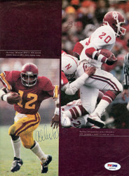 Billy Sims & Charles White Autographed Magazine Page Photo PSA/DNA #S43506