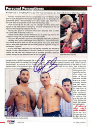 Diego Corrales Autographed Magazine Page Photo PSA/DNA #S48489