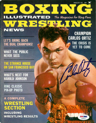 Carlos Ortiz Autographed Boxing Illustrated Magazine Cover PSA/DNA #S48527