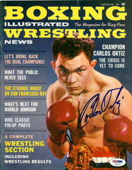 Carlos Ortiz Autographed Boxing Illustrated Magazine Cover PSA/DNA #S48531