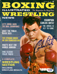 Carlos Ortiz Autographed Boxing Illustrated Magazine Cover PSA/DNA #S48532
