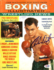 Carlos Ortiz Autographed Boxing Illustrated Magazine Cover PSA/DNA #S48534