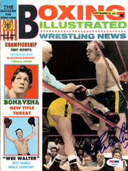 Carlos Ortiz Autographed Boxing Illustrated Magazine Cover PSA/DNA #S48539