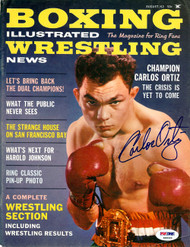 Carlos Ortiz Autographed Boxing Illustrated Magazine Cover PSA/DNA #S48543
