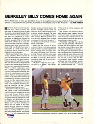 Billy Martin Autographed Magazine Page Photo Oakland A's PSA/DNA #S00356