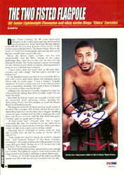 Diego Corrales Autographed Magazine Page Photo PSA/DNA #S47516