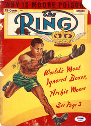 "Archie Moore Autographed The Ring Magazine Cover ""To John"" PSA/DNA #S48869"