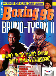 Mike Tyson Autographed Boxing '96 Magazine Cover PSA/DNA #S48907